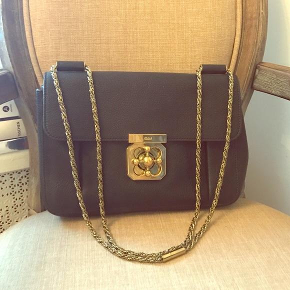 8d26697b Chloe Calfskin Medium Elsie Shoulder Bag Black
